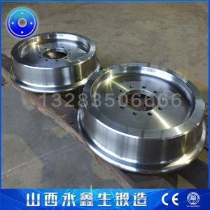 锻造加工出口ER8材质高速火车轮锻件