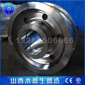 刮板式圆形料场堆取料机车轮锻件