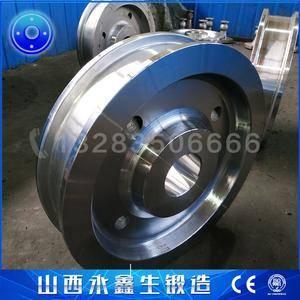 履带引导轮车轮锻件